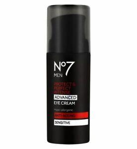 No7 MENS P & P Intense ADVANCED Eye Cream Sensitive By Boots 1x 30ml