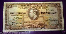 Bermuda 5 Shillings  - 1937  - Pick #  8B  -FREE SHIPPING