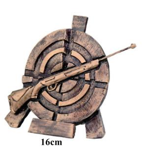 Schützen Gewehr Resine Trophäe 16cm, incl. Wunsch-Beschriftung