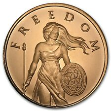 1 onza copper round standing Freedom Girl 999,99