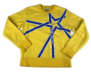NIKE CABJ Sweatshirt Crewneck Yellow Youth Medium