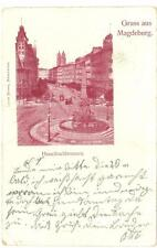 Magdeburg, Germany Hasselbachbrunnen fountain used postcard 1900