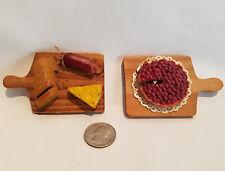 Vtg Charcuterie Cutting Board Fruit Tart Refrigerator Magnet Dollhouse Miniature