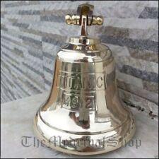 Vintage Brass Maritime Ship Bell Titanic Bell 1912 London Hanging Nautical Wall