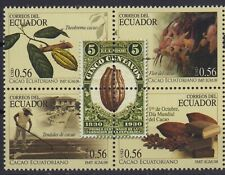 ECUADOR 2008 CACAO BEANS BLOCK X 4 MNH SC# 1936 CHOCOLATE