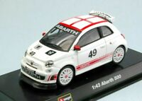 Model Car Scale 1/43 Fiat 500 Abarth Burago diecast vehicles Racing Red