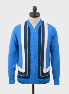 Art Gallery Clothing,Hawks Knitted Zip Cardigan,Ibiza Blue, Mod,60s, Retro-SALE