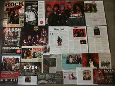 GUNS 'N' ROSES - Over 20 clippings - Slash, Axl Rose