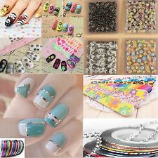 Nail Art Water Transfer Wraps Stickers Decals DIY Tips Rolls Striping Tape Line