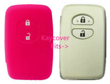 PINK SILICONE CAR KEY COVER FOR TOYOTA  PRADO HIGHLANDER CAMRY