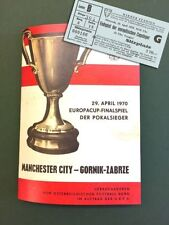 European Cup Final Football Programmes with Match Ticket