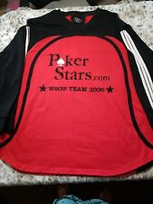 Poker Stars WSOP Team 2006 Rare Embroidered Jersey Shirt Size  XLarge RARE