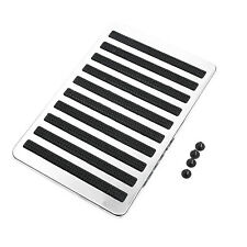 Car Stainless Steel & Rubber Floor Carpet Mat Patch Foot Heel Plate Pedal Pad