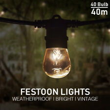Festoon Lights 40m Party Wedding Christmas String Light Garden Indoor Outdoor