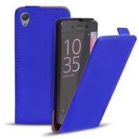 Flip Case Sony Xperia XA Hülle Pu Leder Klapphülle Handy Tasche Cover Blau
