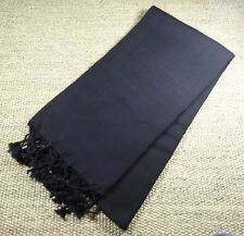 Turkish File Premium Quality Hamam Peshtemal & Beach Towel Black