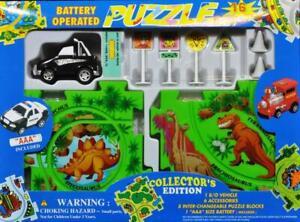 HOT PUZZLE VEHICLE SET - SUV 4WD  & DINOSAUR MAP - FREE SHIPPING-SEE VIDEO