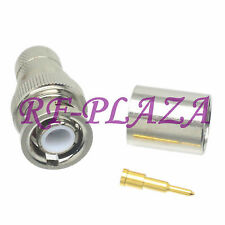 10pcs Connector BNC male plug crimp RG8 LMR400 RG213 RG165 RG393 cable Straight