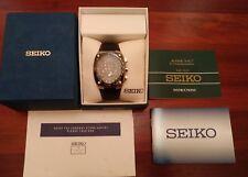 SEIKO Men's Sportura Kinetic Chronograph Watch 8 Jewels Leather Band JAPAN
