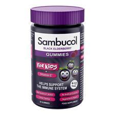 SAMBUCOL KIDS BLACK ELDERBERRY 30 GUMMIES + Vit.C Help Support The Immune System