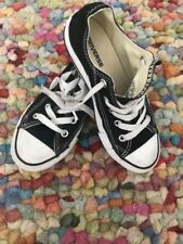 8f7900729207 CONVERSE ALL STAR YOUTH BOYS GIRLS SHOES BLACK WHITE TEXTILE RUBBER SZ 13