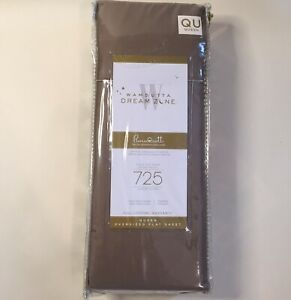 Flat Sheet QUEEN 725 Thread Count Wamsutta  DreamZone - Taupe $40 MSRP $60