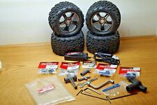 RC TRAXXAS E REVO 3.3 MONSTER TURCK 3.8 TALON TIRES 17MM HEX GEMINI WHEEL + XTRA
