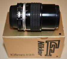 MINT- Nikon  Nikkor 105mm 2.5 AI-S lens