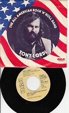 Rock Promo Picture Sleeve 45 Tony Lordi - The All American Rock'N'Roll Band / Th