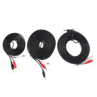 3.5MM Male Jack to AV 2 RCA Male Stereo Music Audio Cable Cord AUX 3M 5M 10M TK