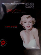 MARILYN MONROE Women's Size 95TO123LBS CHEETAH&LIPS PATTERN SHEER TIGHTS SIZE A