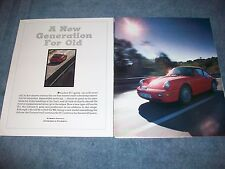 """1989 Porsche Carrera 4 Vintage Road Test Info Article """"A New Generation for Old"""""""