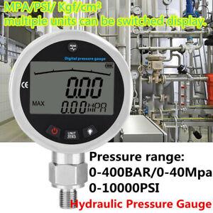 Digital Hydraulic Pressure Gauge 10000PSI 400BAR 0-40Mpa w/ G1/4 Connector