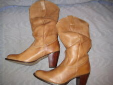 """ON YOUR FEET CHESTNUT LEATHER """"JAKE"""" SLOUCH BOOTS, SZ 6 ½ M, NEW"""