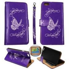 For Iphone 6S Plus (5.5) Ck Wallet Silv Butterfly Purple Cover Case Uni Leather