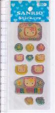 HELLO KITTY 2000s Sanrio Japan plastic sticker - adesive in rilievo misb