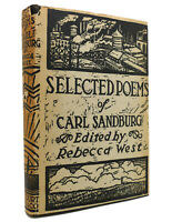 Rebecca West SELECTED POEMS OF CARL SANDBURG  1st Edition Early Printing
