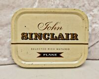 Vintage British Tobacciana-Tobacco Tin- John Sinclair Flake