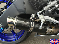 Yamaha R6 06-16 SP Engineering Carbon Fibre Stubby Moto GP Low Slung Exhaust