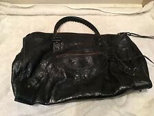 Authentic BALENCIAGA Classic City Hand Bag Leather Black