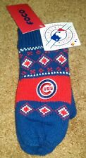 Chicago Cubs Women's Mittens - Knit Outside Fleece Inside With Embroidered CUBS