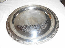 "Oneida silver round tray  14 3/4"""