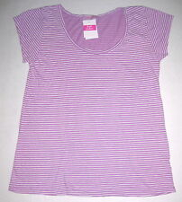 FRESH PRODUCE Lilac Purple LARGE Vintage Pinstripe Slub Cotton Top NWT New L