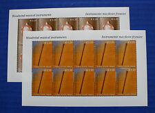 Kosovo UNMIK (#20, 21) 2004 Musical Instruments MNH sheet set