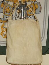 UZCA Matte Natural Python skin, hand crafted Ivory hobo made in Italy