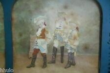 STA456 Officier prisonnier Enfants STEREO photo albumen transparente colorisé