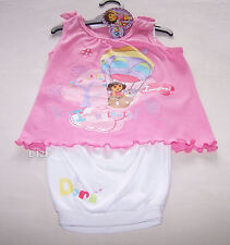 Dora The Explorer Girls Pink White Printed Pyjama Set Size 4 New