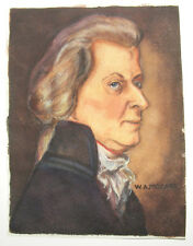 OLD MOZART PORTRAIT PAINTING   - Free shipping