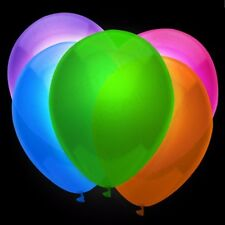 12x NEON PARTY BALLOONS UV Fun Black Light Halloween Disco Rave Gig/Festival UK