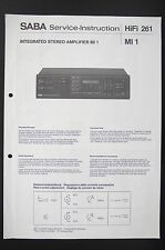 Saba Amplificateur stéréo Mi 1 L'INSTRUCTION DE